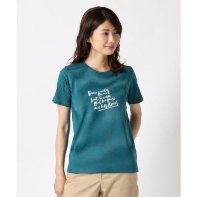 tシャツ Tシャツ プリントボーダーカットソー