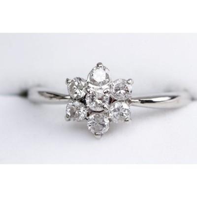 【値下げ!】ダイヤの花 ダイヤモンドリング 0.51ct Pt900 10.5号 指輪 82364【中古】