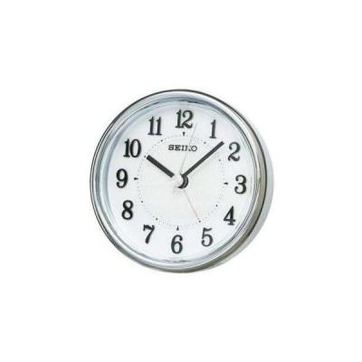 目覚まし時計 置き時計 セイコー SEIKO クロック クオーツ 白パール KR895W