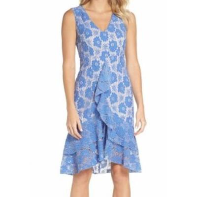 Chelsea28 チェルシートウェンティエイト ファッション ドレス Chelsea28 Womens Dress Nude Blue Small S Sheath Ruffled Floral Lace