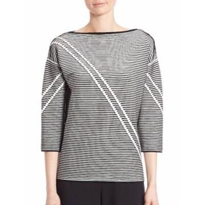 ラファイエット148ニューヨーク レディース トップス ニット  Two-Tone Crepe Jacquard Sweater