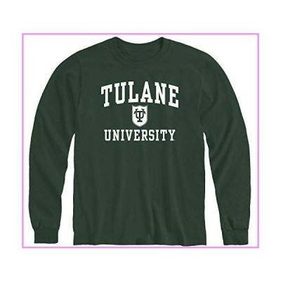 【送料無料】Ivysport Tulane University Green Wave Long Sleeve Adult Unisex T-Shirt, Heritage, Hunter Green, Large【並行輸入品】