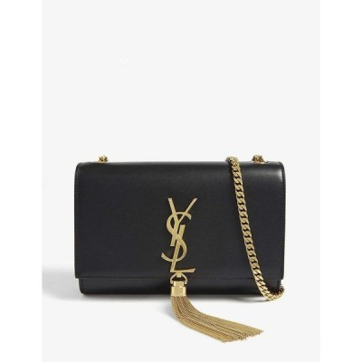 イヴ サンローラン SAINT LAURENT レディース ショルダーバッグ バッグ Kate tassel small leather shoulder bag BLACK GOLD