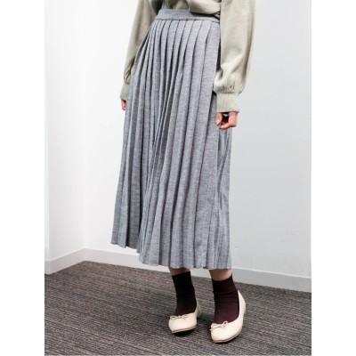 ・ニットプリーツスカート