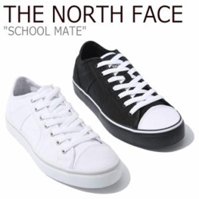 ノースフェイス スニーカー THE NORTH FACE SCHOOL MATE スクール メイト WHITE ホワイト BLACK ブラック NS93K36J/K シューズ