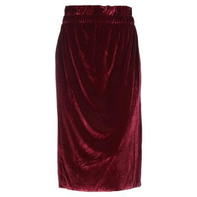 ジジル JIJIL 7分丈スカート ボルドー 40 ポリエステル 100% 7分丈スカート