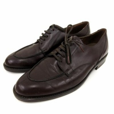 【中古】ケンフォード KENFORD ビジネス シューズ 外羽根 革靴 レザー 茶 ブラウン 25EEE 靴 FK RRR メンズ