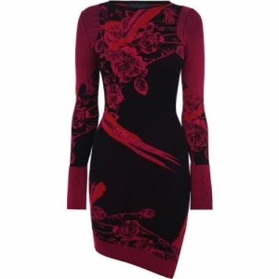 ジャスト カヴァリ JUST CAVALLI レディース ワンピース ミニ丈 ワンピース・ドレス Long Sleeve Mini Dress J Red
