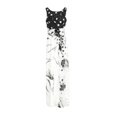 ANTONIO D'ERRICO ロングワンピース&ドレス ホワイト 42 ポリエステル 100% ロングワンピース&ドレス
