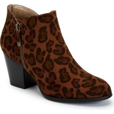 スタイル&コー Style & Co レディース ブーツ ブーティー シューズ・靴 Masrinaa Ankle Booties Brown Leopard