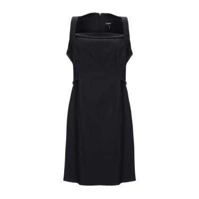 ビブロス BYBLOS ミニワンピース&ドレス ブラック 42 コットン 51% / アクリル 45% / ポリウレタン 4% ミニワンピース&ドレス