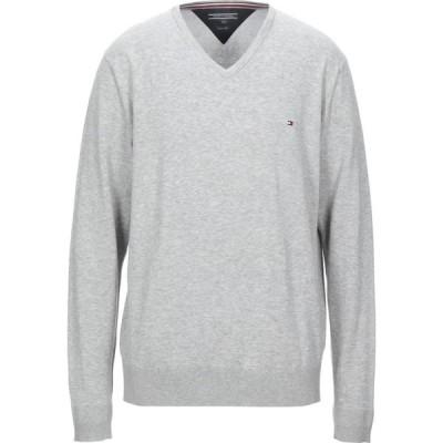 トミー ヒルフィガー TOMMY HILFIGER メンズ ニット・セーター トップス Sweater Light grey