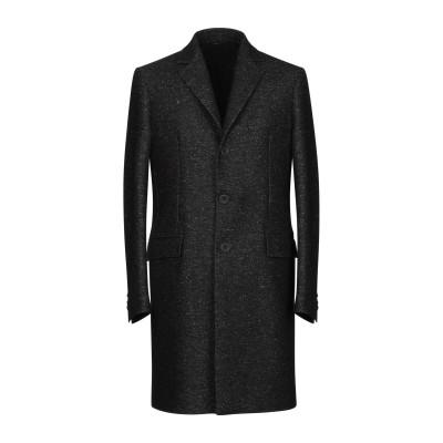 イーヴォ HEVÒ コート ブラック 52 バージンウール 66% / ナイロン 20% / 麻 14% コート