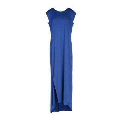 マニラ グレース MANILA GRACE ロングワンピース&ドレス ブルー 1 レーヨン 95% / ポリウレタン 5% ロングワンピース&ドレス