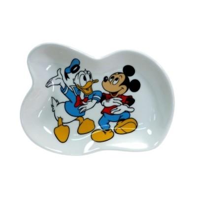 ミッキー & ドナルド グッズ ミニプレート ディズニー 磁器製 変形 小皿 ダンス スモールプラネット