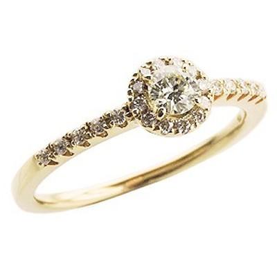 ダイヤモンドリング ダイヤモンド指輪 ダイヤモンド 0.35ct K18 ゴールド 18金 レディース ジュエリー 誕生日プレゼント 指輪 おしゃれ