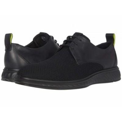 ECCO エコー メンズ 男性用 シューズ 靴 オックスフォード 紳士靴 通勤靴 ST.1 Hybrid Lite Casual Tie Black/Black【送料無料】