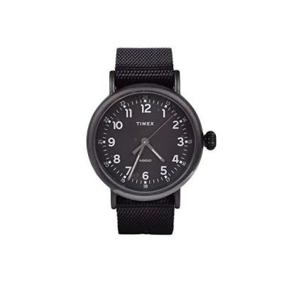 腕時計 タイメックス メンズ TW2T20800 Timex Standard 40 mm Black Fabric Strap Watch TW2T20800