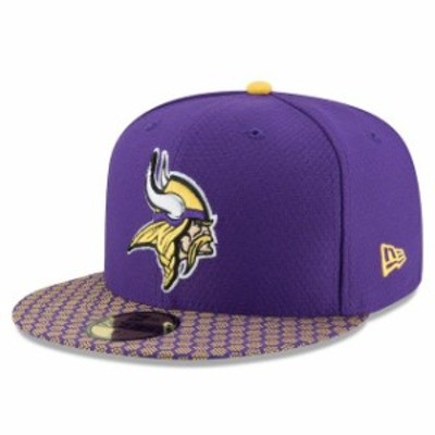 New Era ニュー エラ スポーツ用品  New Era Minnesota Vikings Youth Purple 2017 Sideline Official 59FIFTY Fitted Hat