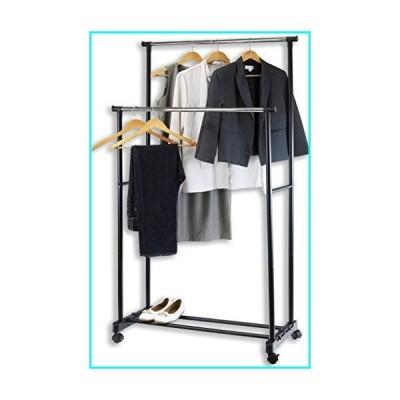 Simple Houseware ポータブル衣類ハンギングガーメントラック Mini Double Rod