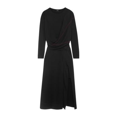 ATLEIN 7分丈ワンピース・ドレス ブラック 40 レーヨン 100% 7分丈ワンピース・ドレス