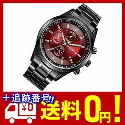 PREMIUM HOUSE メンズ オシャレ 腕時計 シンプル デザイン 軽量 日常生活防水 ビジネス用 カジュアル ファッション (レッド)