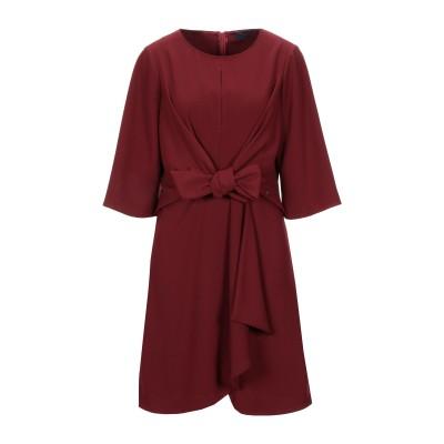 トラサルディ ジーンズ TRUSSARDI JEANS ミニワンピース&ドレス ボルドー 40 ポリエステル 100% ミニワンピース&ドレス