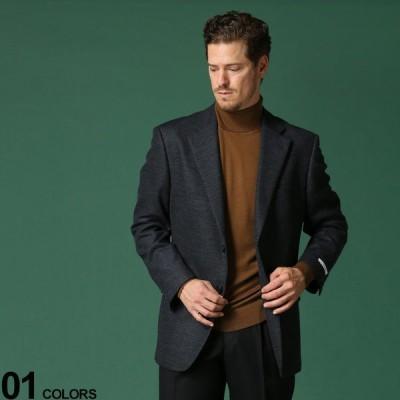 ニット ジャケット ウール混 シングル 2ツ釦 秋冬 メンズ ビジネス テーラード ビジカジ メンズショップサカゼン