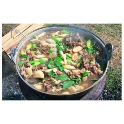 ≪9月~10月発送≫米沢牛いも煮セット(牛肉・野菜詰合せ)【醤油ベース】 山形名物 芋煮 約4人前