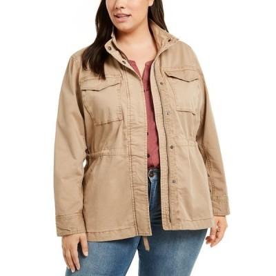 スタイルアンドコー ジャケット&ブルゾン アウター レディース Plus Size Cotton Utility Jacket, Created for Macy's Doe