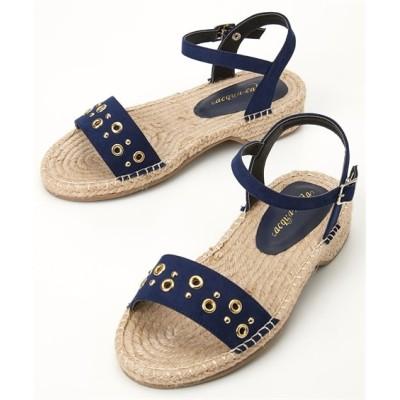 スタッズデザインジュートサンダル(ワイズ4E) サンダル, Sandals