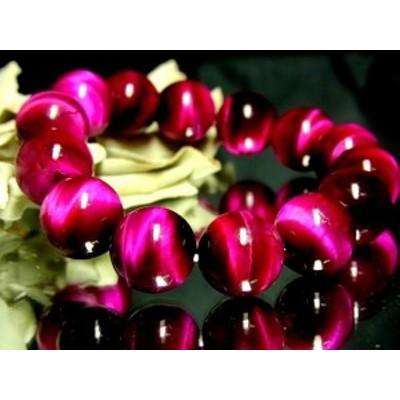 美品ピンクタイガーアイ桃虎目石14ミリ数珠【天然石】【ブレスレット】【パワーブレス】【数珠】【パワーストーン】【男性用】【女性用】