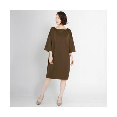 MARTHA(マーサ) フレアスリーブポンチワンピース (ワンピース)Dress