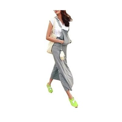 【カナエルン】 ジャンスカ フード付き レディース ロング ワンピース ジャンパースカート 大きいサイズ 体形カバー ゆったり 柔らか 授乳
