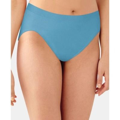 バリ Bali レディース ショーツのみ インナー・下着 Comfort Revolution Microfiber Hi Cut Brief Underwear 303J Raindrop Blue