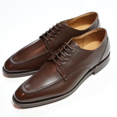 日本製グッドイヤーウエルト紳士靴 ショーンハイト 外羽根Uモカ(SH416-5)ラバー底 ブラウン