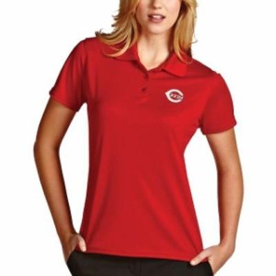Antigua アンティグア スポーツ用品  Antigua Cincinnati Reds Womens Red Desert Dry Xtra-Lite Exceed Polo