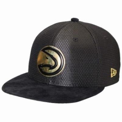 New Era ニュー エラ スポーツ用品  New Era Atlanta Hawks Black/Gold NBA On-Court 59FIFTY Fitted Hat