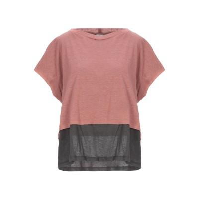 アリジ ALYSI T シャツ パステルピンク 40 コットン 70% / リネン 30% T シャツ