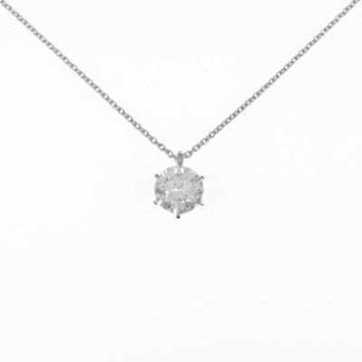 【中古品】【リメイク】プラチナダイヤモンドネックレス 1.156ct・I・I1・VG