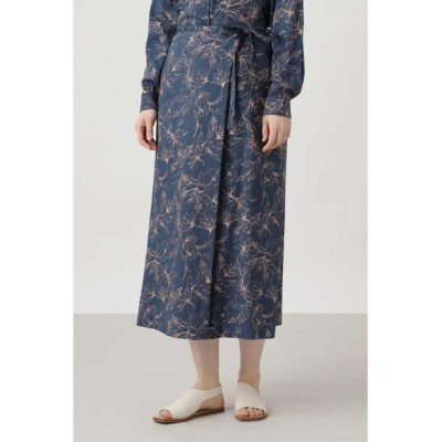 HUMAN WOMAN/ヒューマンウーマン アートワークプリントスカート ネイビーPT3 M
