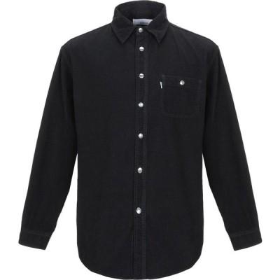 ハイクレ HAIKURE メンズ シャツ トップス Solid Color Shirt Black