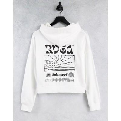 ルーカ レディース パーカー・スウェット アウター RVCA Vibrations hoodie in white