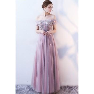 ロングドレス パーティードレス カラードレス 二次会 結婚式 ワンピース ドレス フォーマルドレス フォーマル お呼ばれ 大きいサイズ 大人 上品[ピンク]