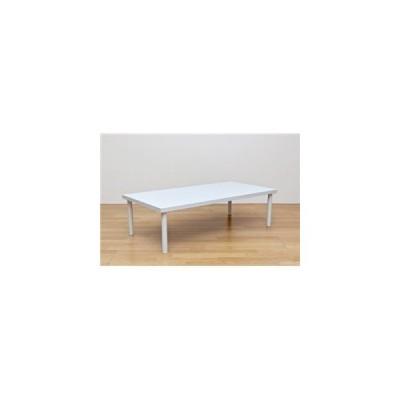ds-1651589 フリーローテーブル(作業台/PCデスク/センターテーブル) 長方形 幅120cm×奥行60cm 天板厚3cm ホワイト(白)