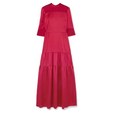 VILSHENKO ロングワンピース&ドレス レッド 10 アセテート 82% / レーヨン 18% ロングワンピース&ドレス