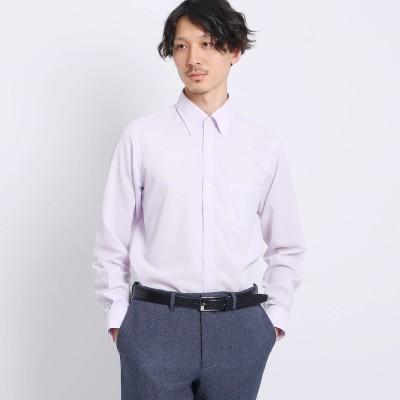 タケオ キクチ TAKEO KIKUCHI 【Sサイズ~】カラミ織りシャツ (ライトパープル)