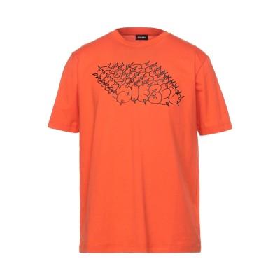ディーゼル DIESEL T シャツ オレンジ M コットン 100% T シャツ
