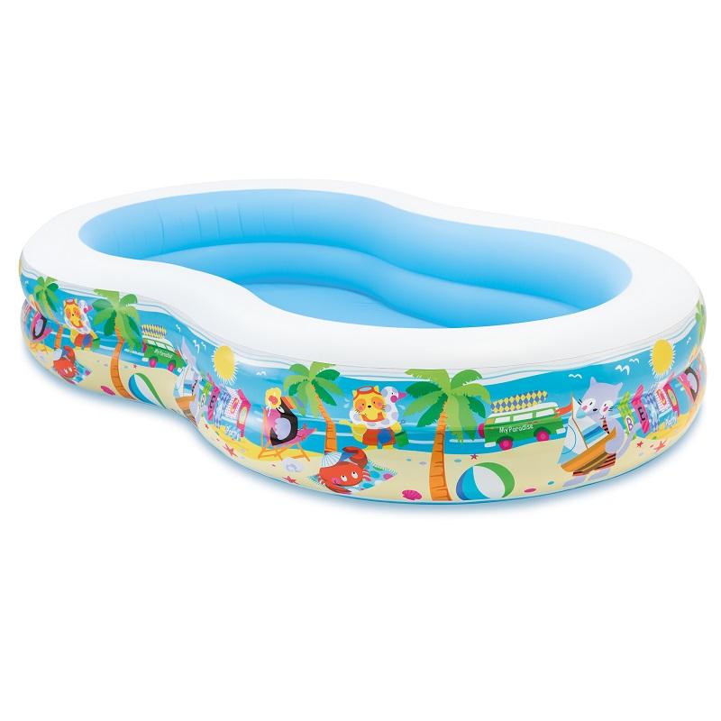 INTEX 夏威夷帆船8字形水池