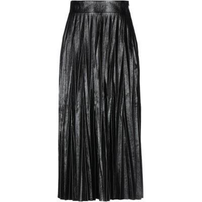 アーヴィーウ AVIÙ 7分丈スカート ブラック 40 ポリエステル 70% / ポリウレタン 15% / ポリウレタン 10% / コットン 3%